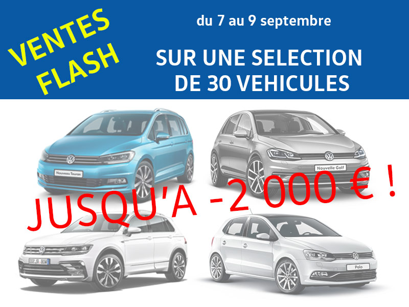 Ventes Flash septembre